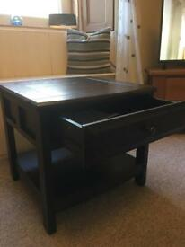 Brand new dark wood table with drawer