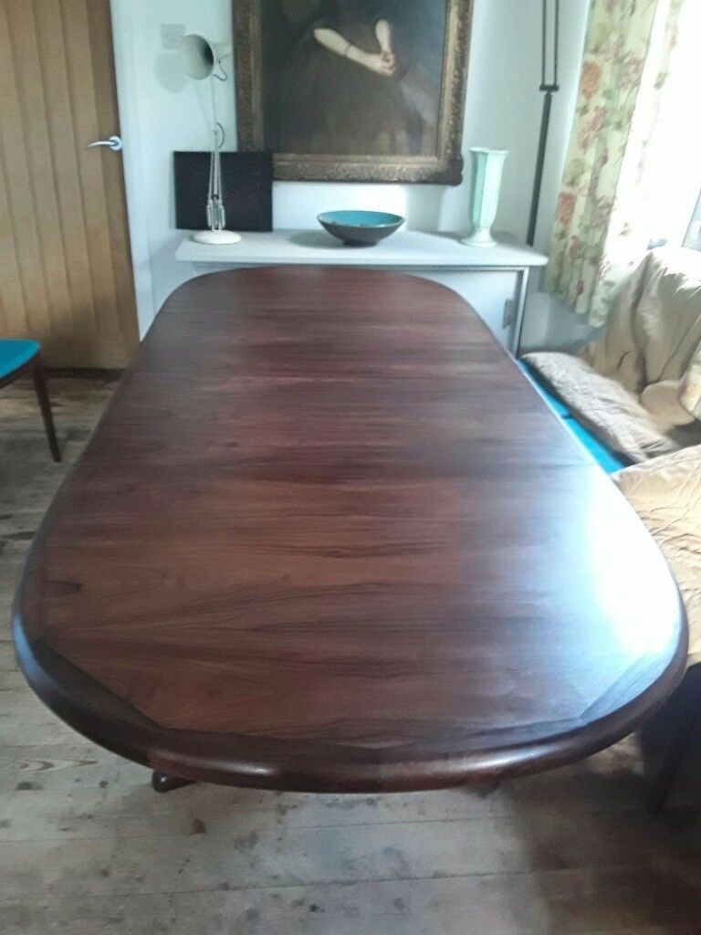 Lovely Vintage Danish Rosewood Gudme Extending Dining Table