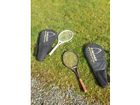 Two tennis rackets and two Head cover bags