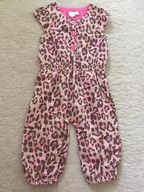 Julien Macdonald Leopard Print Jumpsuit - 9-12 months