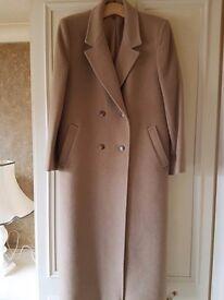 Full length ladies cashmere coat
