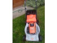 SELF PROPELLED PETROL LAWNMOWER WITH REAR ROLLER