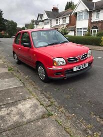 Nissan Micra 1.0 Vibe 3dr ,low mileage 59954 ideal first car £350