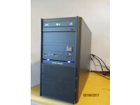 PC base unit, Dual Core E5300 2.6GHz, 4GB DDR3 RAM + 250GBHDD. Windows 10 Pro and MS Office Pro 2007