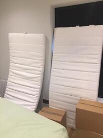 2 single mattresses from IKEA 90 x 190cm