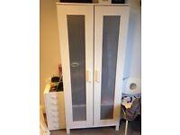 CHEAP Wooden White IKEA Wardrobe - Quick Sale