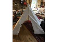 TIPI TENT THICK CREAM CANVAS VERY WELL MADE for sale  Skipton, North Yorkshire