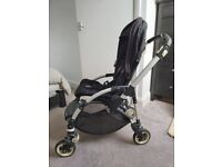 Bugaboo Bee with sun canopy and rain cover
