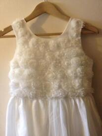 Ivory bridesmaids dress aged 13