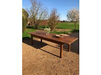 Antique Large French Country Farmhouse Kitchen Dining Table