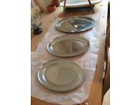 Silver serving trays (stainless steel)