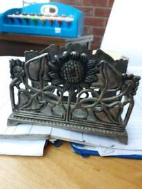 Letter rack - silver flower metal desk tidy