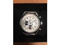 Breitling Silver, Automatic Watch, Metal Strap *1st Class Postage Available*
