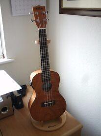 Kala KA-CEME Satin Mahogany Concert Electro/Acoustic Ukulele With Active Pickup & Tuner