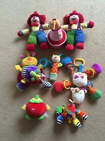 baby soft toys, buggy toys, and lullaby doll
