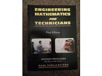 Engineering mathematics for technicians. 1st Edition. Paperback edition.