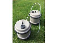 2 Caravan water barrels containers