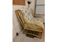 """1 Two Seater 46"""" Wide Cane High Back Sofa & 2 One Seater to match."""