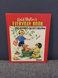 RARE VINTAGE ENID BLYTON EVERYDAY BOOK OF GOODNIGHT STORIES DEAN PUBLISHED 1975 70s retro SDHC