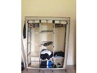 2x double canvas wardrobes