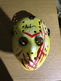 jason voorhees collectable signed mask