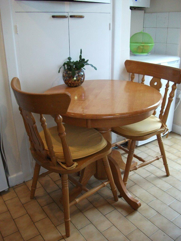 Small Circular Dining Table And 2 Chairs