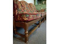 Vintage solid wood large sofa