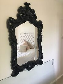 Black large ornate mirror - Dunelm