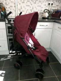 Cuggl Pushchair (almost New!) With unused rain cover and footmuff