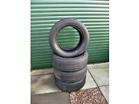 four 235/ 55 r17 M + S tyres