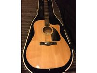 Fender CD-60CE electro acoustic with hard case