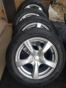 LIKE  BRAND NEW   VOLVO XC90 MICHELIN  HIGH PERFORMANCE WINTER TIRES 235 / 60 / 18 ON  TOUREN ALLOY WHEELS