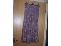 "Viyella long floral skirt, Size 12, Lined 37"" Length"