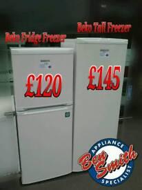 Fridge Freezer Tall Freezer Beko White