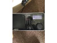 Logik digital dab radio with lightning adapter good condition black
