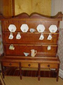 Miniature Dresser with Crockery