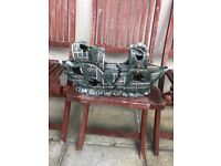 1.5 ft long boat ornament for fish tank v g c and very nice look pic and clean 1 part