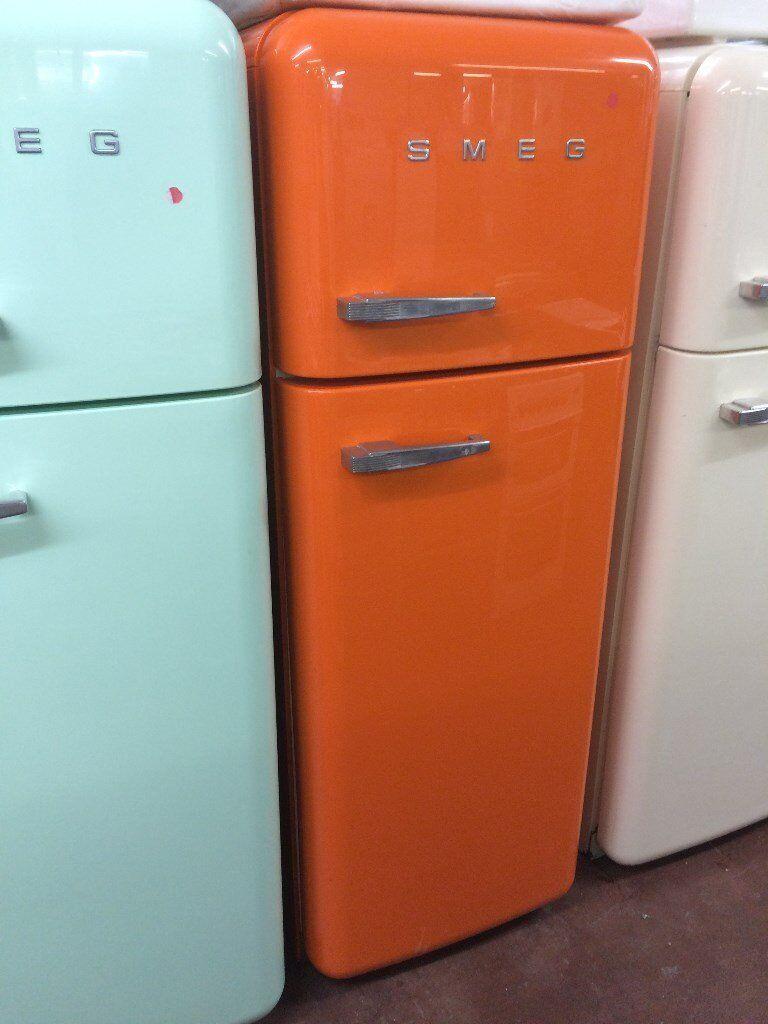 smeg fridge freezer fab 30 retro style orange. Black Bedroom Furniture Sets. Home Design Ideas