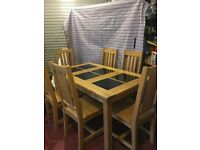 Solid Oak Table & 6 Chairs, £295 ono