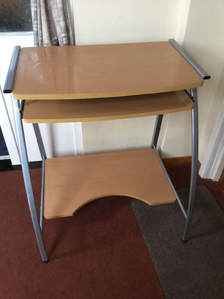Desk Small 3 Shelves One Pulls Out Ideal For Bedroom Hallway Or Other Room In Maidstone Kent Gumtree
