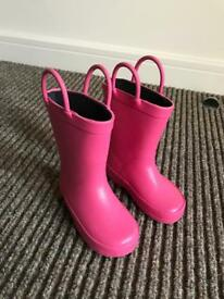 Mothercare pink baby girl wellies excellent condition