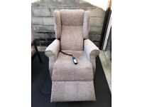Two Shackleton chairs. A rise & recline electronic chair and arm chair