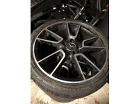 "19""255/35/ Mercedes c45/c63 Alloy Wheels with tyres"
