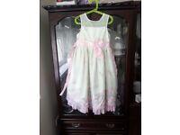 Beautiful Pale Green Jona Michelle Girl's Wedding Dress, Age 6 years
