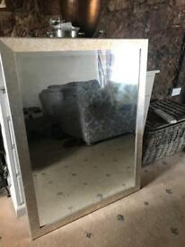 Large silver and gold mirror