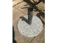 Marble parasol stand £10 Fratton