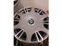 Bentley alloy wheels silver and black