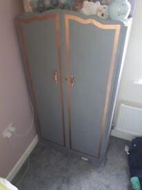 Grey/gold upcycled wardrobe
