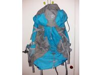 Backpack Rucksack, Sleeping Bag and ground sheet