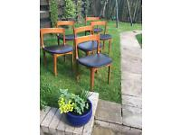 Teak Dining Chairs Six.